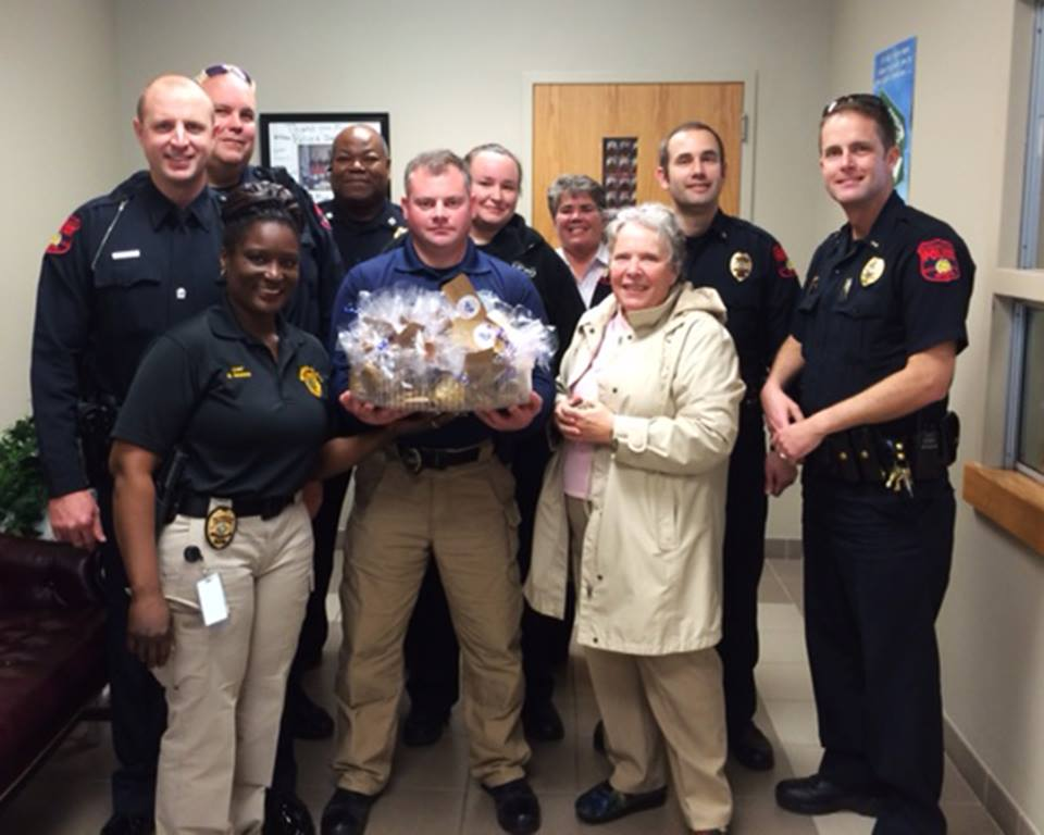 Police Officers with Gift Bags